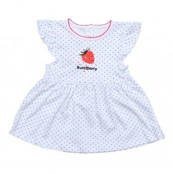 Платье Minikin Клубничка Бело-черный 200903