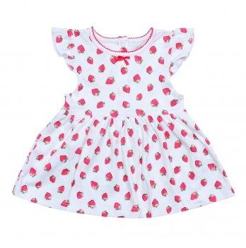 Платье Minikin Клубничка Бело-красный 200903