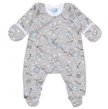 Теплый человечек для новорожденных с царапками Minikin Серый 2013601