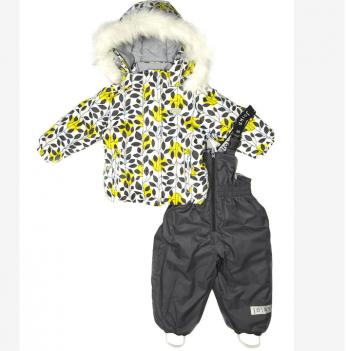Термокомплект для девочки Joiks, возраст от 9 месяцев до 3 лет, рисунок - серый
