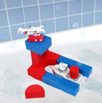 Набор плавающих блоков для ванны Just Think Toys, Береговая охрана - лодка и вертолет