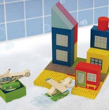 Набор плавающих блоков для ванны Just Think Toys, Аэропорт