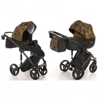 Универсальная коляска 2 в 1 Junama, Fashion Pro Army