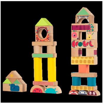 Игровой набор деревянных блоков Lilliputiens Джунгли