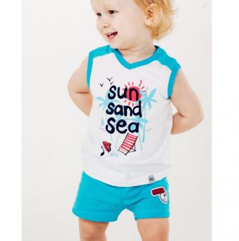 Майка для мальчика Smil от 6 до 18 месяцев белая