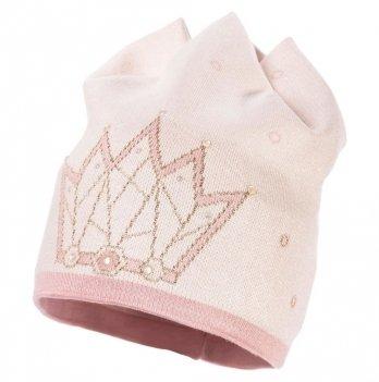 Демисезонная шапка для девочки Jamiks Pauline III, молочная/розовая