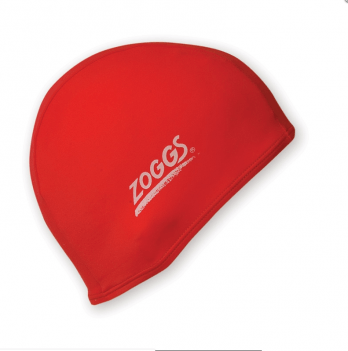 Шапочка для плавания Zoggs Stretch Cap, красная