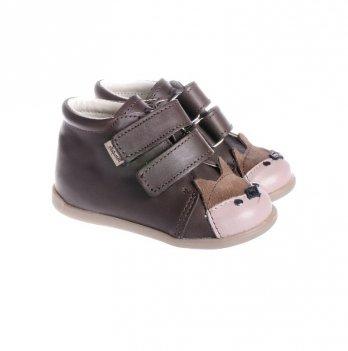 Ботинки Мишка кожаные демисезонные Mrugala коричневые