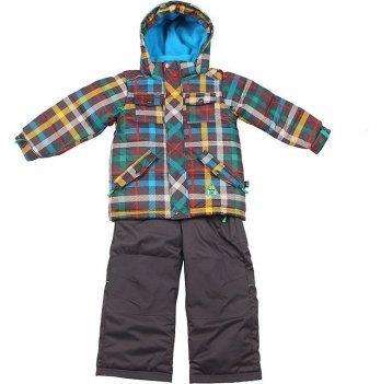 Зимний костюм детский Deux par Deux K 812, черный полукомбинезон
