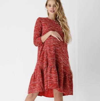 Платье Dianora для беременных и кормящих мам красный меланж 1858 0000