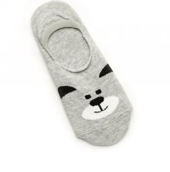 Носки-следы для девочек Модный карапуз, серые