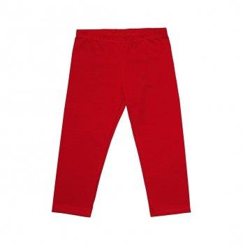 Лосины-капри для девочки Модный карапуз, хлопок, красные