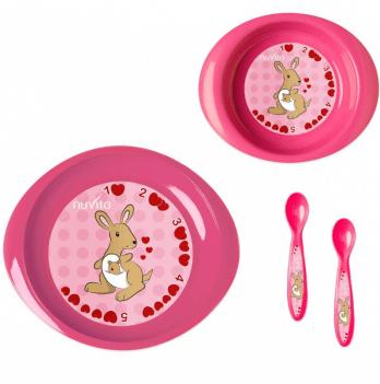Набор для кормления Nuvita 12м+, 4 предмета, розовый