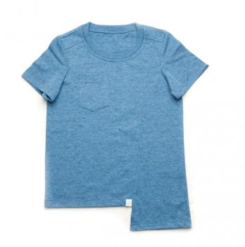 Футболка ассиметричная для мальчика Модный карапуз, синий меланж