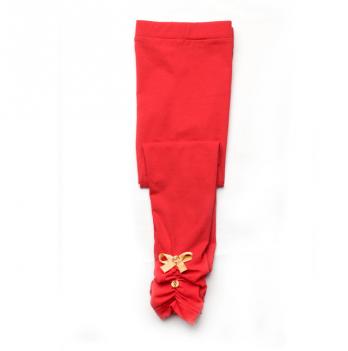 Лосины для девочки Модный карапуз, красные