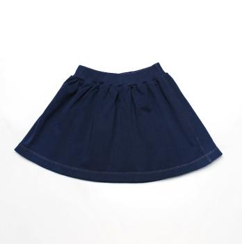 Юбка для девочки Модный карапуз, трикотаж, темно-синяя