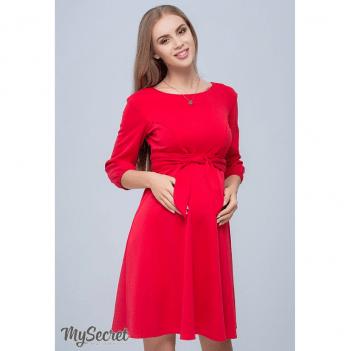Платье для беременных и кормящих из трикотажа джерси, MySecret, красное Размер S