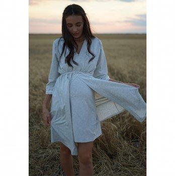 Халат для беременных To Be Серый 3057041
