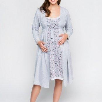 Халат для беременных и кормящих Creative Mama Melange Размер М