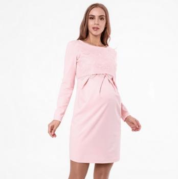 Платье MySecret, для беременных и кормящих, персиковое Размер L