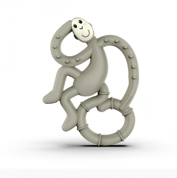 Игрушка-прорезыватель Matchstick Monkey Танцующая обезьянка, 10 см, серая