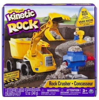 Набор для детского творчества Wacky-Tivities - KINETIC ROCK CRUSHER (серый гравий 340 г, самосвал, аксессуары)