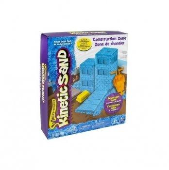 Песок для детского творчества Wacky-Tivities Kinetic Sand Construction Zone (голубой, формочки, 383 г)