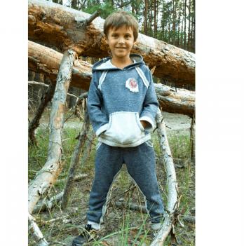 Спортивный костюм для мальчика Модный карапуз, темно-синий