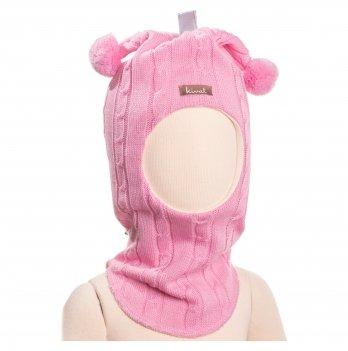 Шапка-шлем для девочки Kivat Косичка, 2 бубона, 566-20