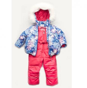 Костюм зимний для девочки Модный карапуз Снежинка