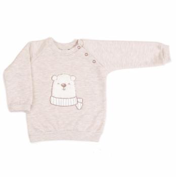 Кофточка-свитшот футер Veres Polar bear Бежевый меланж