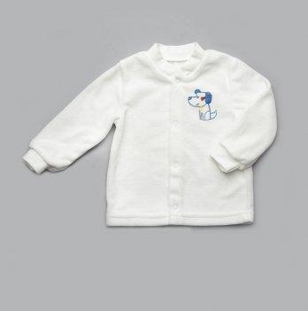 Кофта велюровая Модный карапуз 304-00009 молочный
