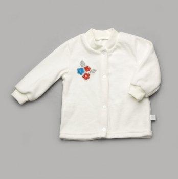 Кофта велюровая Модный карапуз 304-00009 молочный цветочек