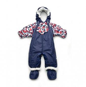 Детский зимний комбинезон-трансформер Модный карапуз Синий 03-00932