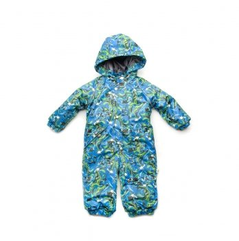 Комбинезон зимний Модный карапуз, голубой принт
