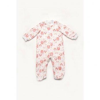 Комбинезон-человечек для девочки Модный карапуз Мишки Розовый 301-00049