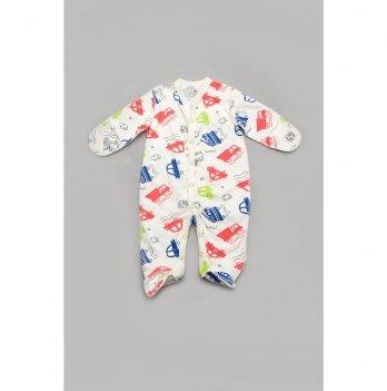 Человечек для новорожденных с царапками Модный карапуз Машинки 56 303-00042