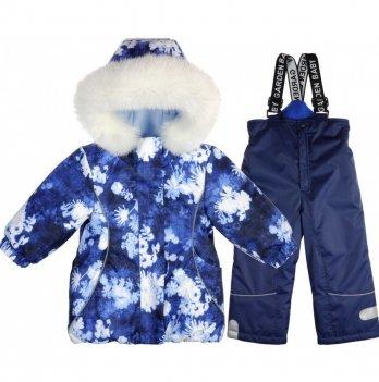 Комплект (куртка/полукомбинезон) для девочек Garden baby, синий