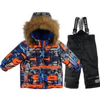 Комплект (куртка/полукомбинезон) для мальчиков Garden baby, оранжевые буквы