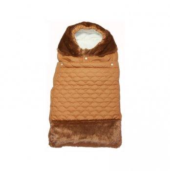 Конверт зимний на молнии ТМ Руно Мишка, коричневый
