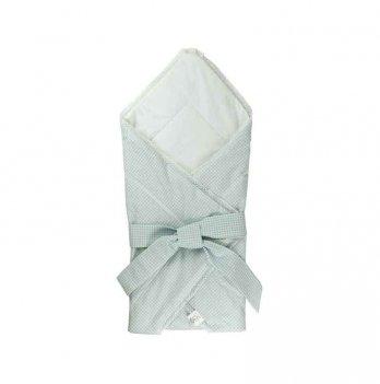 Одеяло-конверт для новорожденных ТМ Руно хлопковое, голубое