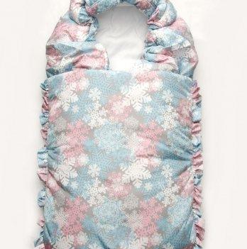 Конверт-одеяло Модный карапуз 03-00876 розово-серый