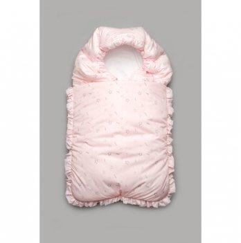 Зимний конверт для новорожденного Модный карапуз Розовый 03-00894