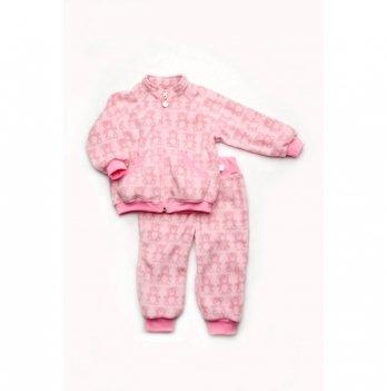 Костюм флисовый Модный карапуз Мишки Розовый 03-00828