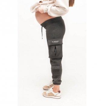 Спортивные штаны для беременных утепленные MBerry dress Серый
