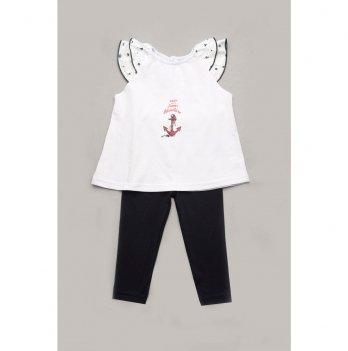 Комплект для девочки Модный карапуз лосины и туника 03-00951