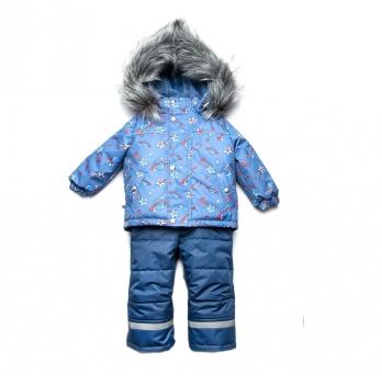 Костюм зимний для мальчика Космос Модный карапуз 03-00879 голубой