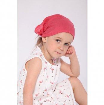Детская косынка для девочки Модный карапуз Красный 3-5 лет