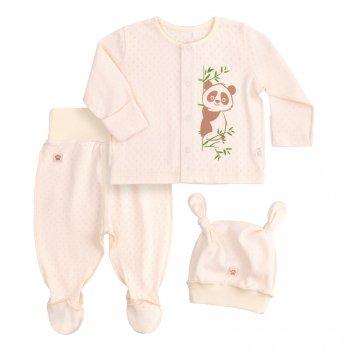 Комплект для малышей Bembi Бежевый Рибана Унисекс КП214