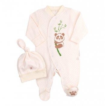 Комплект для малышей Bembi Бежевый Рибана Унисекс КП216